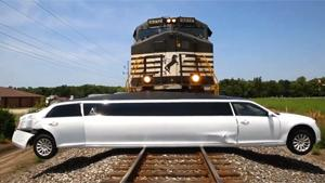 Freight Train Vs Limo
