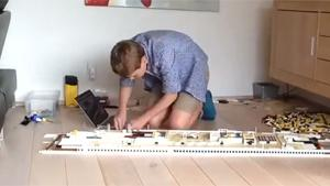 Kid Builds Titanic From Lego