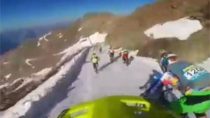 Suicidal Downhill BMX Ski Slope Race