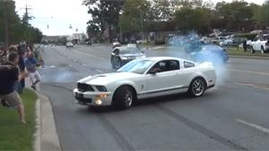 Shelby Mustang GT500 Drift Fail