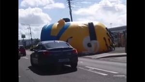 Minion Creates Chaos On Road