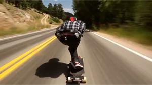 100+ KMH Downhill On Longboard