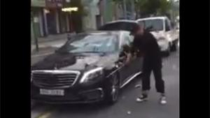 Smashing New Mercedes With Golf Club