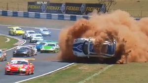 Big Crash During Porsche GT3 Cup