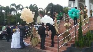 Helium Balloons At Wedding