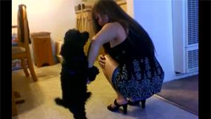 Dog Ejaculates On Girl