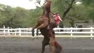 Woman On Bucking Horse