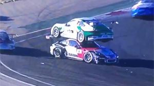 Hilarious Accident During Porsche Cup