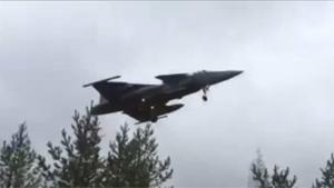 Fighter Jet Lands On Highway