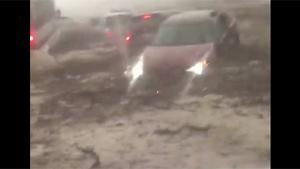 Flash Flood On Highway