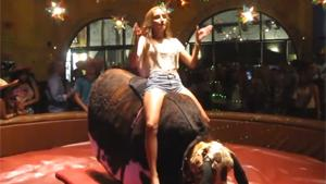 Sexy Mechanical Bull Ride