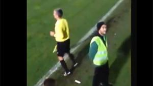 Linesman Gets Cold Shower