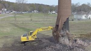 Chimney Demolition Fail