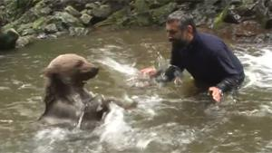 Playing With Brown Bear