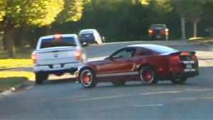 Shelby GT500 Crashes Into Pickup