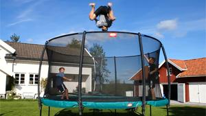 Jumping Out Of Trampoline Cage