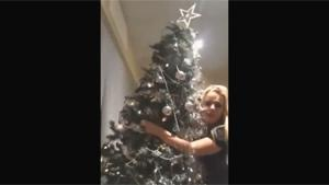 Drunk Girl Dancing With Christmas Tree
