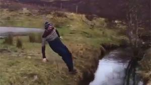 Hilarious Ditch Jumping Attempt