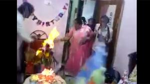 Flaming Birthday Party