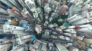 Spectacular Drone View Of Hong Kong