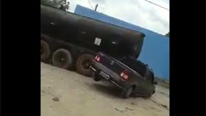 Road Rage With Truck And Car