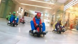 Mario Kart In Shopping Mall