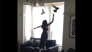 Drunk Girlfriend Chasing Pigeons
