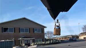 Hot Air Balloon Crashes Into House