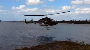 Helicopter Crashes In Water
