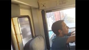 School Bus Almost Hit By Train