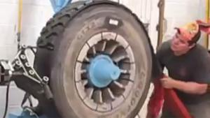 Retreading A Truck Tyre
