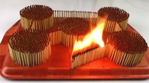 Flaming Match Domino