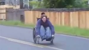 Downhill Wheelchair Race