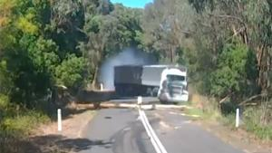Bizarre Truck Crash