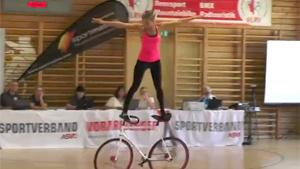 Dancing Girl With Bicycle
