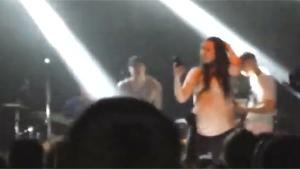 Singer Kicks Girl From Stage