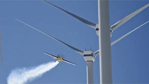 Slalom Flying Through Wind Turbine Farm
