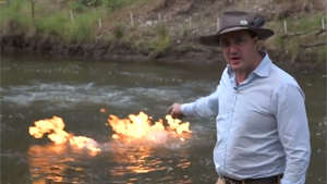 Guy Sets River On Fire