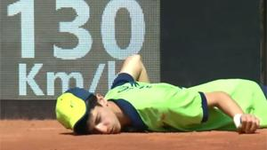 Ball Boy Faints And Faceplants