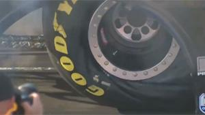 Dragster Tyre Deformation In Slowmo