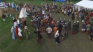 Drone Speared Down In Medieval Festival