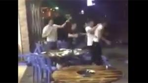 Massive Brawl In Chinese Restaurant