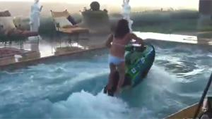 Epic Backflip On Jet Ski In Pool