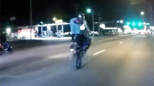 Girl Knocked Off Bike By Idiot