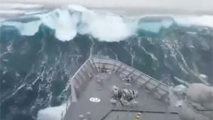 Massive Wave Hits Bow