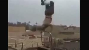Concrete Worker Goes Flying