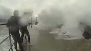 Selfie Fags Smashed By Wave