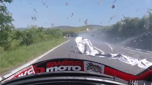 Close Call For TT Racer