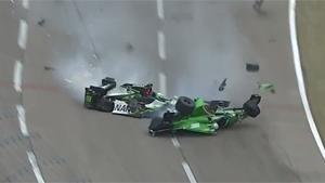 Massive IndyCar Crash