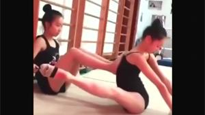 Extreme Stretching For Teen Girl